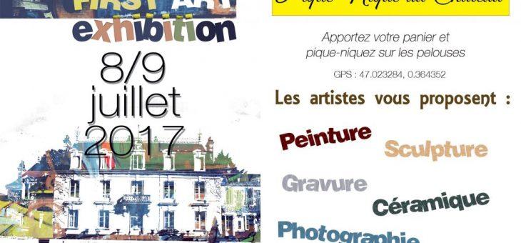 Première Exposition à la Pichardière à Chaveignes 8 et 9 juillet
